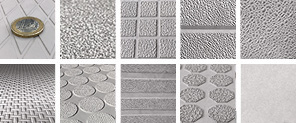 To overview of concrete textures made with GIAN anti-slip products